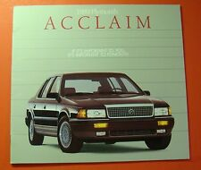 1989 PLYMOUTH ACCLAIM SHOWROOM SALE BROCHURE ..22 - PAGES