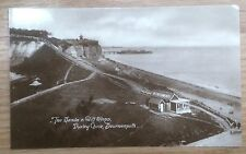 POSTCARD: BOURNEMOUTH, DURLY CHINE, SANDS & CLIFF STEPS: c1904-18