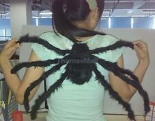 75cm Black Large Plush Spider Puppet Toy Halloween Party Props Decoration