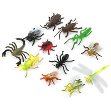 12× Mini Plastic Insect Toys 3-5cm Long Flying Bug Spider Wasp Ladybird Ant Mold