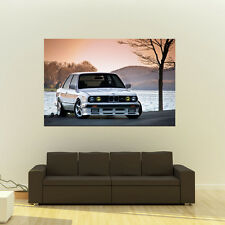 Poster of BMW E30 3-Series HD Huge Print 54x36 Inches