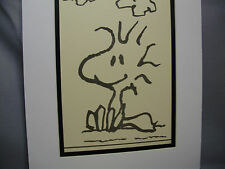 Snoopy buddy Woodstock  Drawing stay in school   Promotion by Schultz
