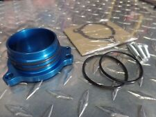 NEW Honda TRX250R TRX 250R BILLET ALUMINUM EXHAUST FLANGE MOUNT BLUE
