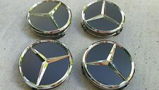 Black Mercedes Benz center cap set GLK 350 CLA 250 wheel emblem badge symbol
