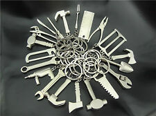 12PCS/LOT Creative Good Tool Wrench Spanner KeyChain mini Keyring Metal Keychain