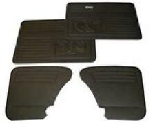 VW Beetle Door Panels / Cards / Trim Set SET 4 Black With Pockets 1965-79 T1 Bug