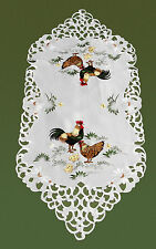 New Chicken Cockerel Rooster Hen Chick Easter Embroidered Table Runner 90cm M40S