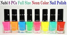 Nabi Neon Color Nail Polish Set- Full Size 8 PCs Color Set *Free Expedited Ship!