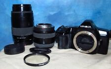 MINOLTA MAXXUM 3000i Camera w/ProMaster Spectrum 7 75-200mm 28-70mm Lenses J225