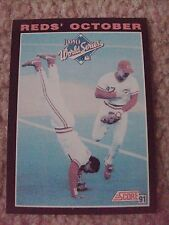"Barry Larkin ""October"" 1991 Score RARE BLANK BACK PROOF CARD hand-cut from sheet"