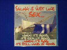 Navegación es Al Igual Que El sexo Marinero en blanco mensaje felicitación