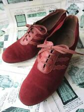 Lovely Antique 1920's Flappers Rust Coloured Oxford Shoes- Timpsons