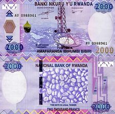 RWANDA 2000 Francs Banknote World Paper Money UNC Currency p40a Africa Notes