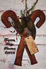 Primitive Pattern Candy Canes and Crw Door Hanger Greeter Merry Christmas !