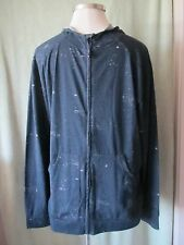 "Mens Ecko Black LS Paint Splatter Full Zip Hoodie Hoody NWT $89.50 XL 39"" SL"