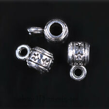 100pcs 3mm Hole Charm Tibet silver Star Pendant Connector DIY Jewelry Bail A7599