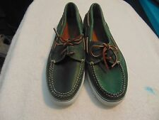 Mens Cole Haan Sporting Green Leather Mocassin Loafer Shoes-12M