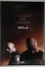 Cinema Poster: FAST AND FURIOUS 8 2017 (Adv One Sheet) Dwayne Johnson