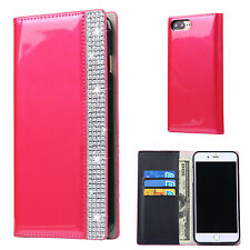 Rosered Bling Diamond Crystal Leather Wallet Card Case Cover for iPhone 7 Plus