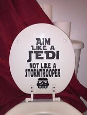 Star Wars Inspired Bathroom Home Decor: Toilet Decal~Aim Like a Jedi in black