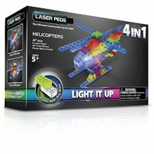 Laser Pegs, 4-in-1 MPS Helicopter, Building Set - Kids Light up Construction Kit