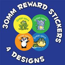 144 x 'Great Work' 30mm Children Reward Stickers - For School Teachers/ Parents