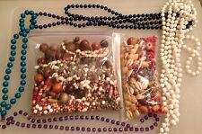 300+ Bead Lot Jewelry Making Loose Beads Wood Shells Plastic Arts Crafts