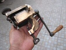 Curious Antique Vintage Salvage Old Printing Office Tool Brass With Hand Crank