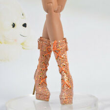 """Sherry Gold Sequins Shoes  boots  for 16"""" Ellowyne wilde Doll Clothing 7ES61"""