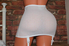 MISS MARY OF SWEDEN white girdle suspender belt size S