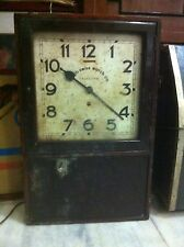 ANTIQUE VICTORIAN - ANGLO SWISS WATCH CO - PUNCH CARD TIME RECORDER WALL CLOCK