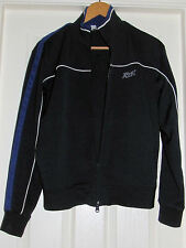 VINTAGE WOMEN'S DARK BLUE REEBOK 87 DOUBLE ZIPPER TRACK TOP SIZE S/P (8-10) RBK