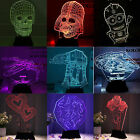 7Color Change LED 3D Illusion USB Night Light Desk Lamp House Room Bedside Decor