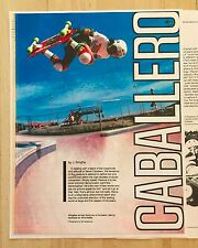 CABALLERO SKATEBOARD STAR ARTICLE SKATEBOARDER ACTION NOW MAGAZINE 81