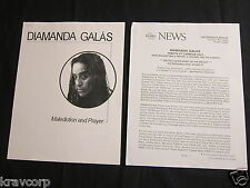 DIAMANDA GALAS—1996 PRESS RELEASE