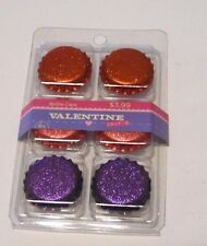 RED PINK PURPLE BOTTLE CAPS CRAFTS HAIR BOWS GIRLS VALENTINE'S DAY DECORATION