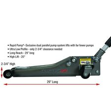 Low Profile Floor Jack with Rapid Pump®, 2.5 Ton Heavy Duty Steel .