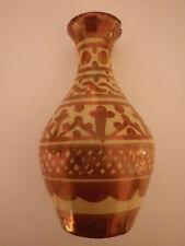 Antiguo español Hispano-Moresque Lustre Ware Jarrón de cerámica de barro Alhambra 19TH