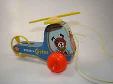 Vintage Fisher Price Mini Copter Pull Toy 1970 #448