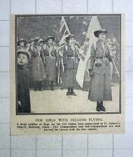 1917 Flags For Girl Guides Consecrated St Andrew's Church Halstead Essex