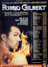 RHOD GILBERT TOUR POSTER - THE MAN WITH THE FLAMING BATTENBERG TATTOO