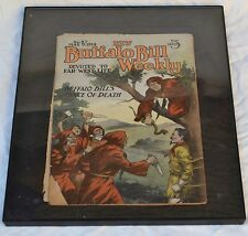 Vintage 1914 New Buffalo Bill Weekly Comic Book in Frame