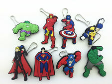 8pcs the Avengers Super Hero Zip Pull & Zipper Pull Charms for Jacket Backpack