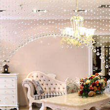 1M Glass Crystal Clear Beaded Hanging Curtain String Window Door Kitchen Decor