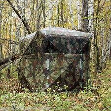 GR251BT 2 Man Barronett Grounder Blind Woodland Bloodtrail Camo SALES SAMPLES