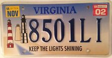 Virginia LIGHTHOUSE Keep Lights Shining license plate Sea Beach Light House Boat