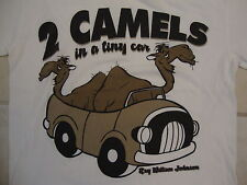 2 Two Camels In a Tiny Car Ray William Johnson Funny Humor White T Shirt S