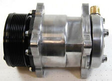 Sanden 508 Chrome A/C Compressor Serpentine + Chrome Clutch Cover Air Condition