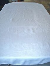 "Chrysanthemum Double Damask Irish Linen Tablecloth - 86""x 70"""