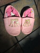 Mini Star MINISTAR Pink Leather Cinderella Princess Crown Shoes 12 to 18 Months